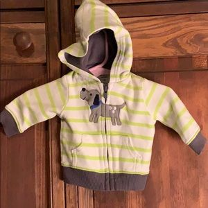 Carter's boys Newborn long sleeve zip up hoodie